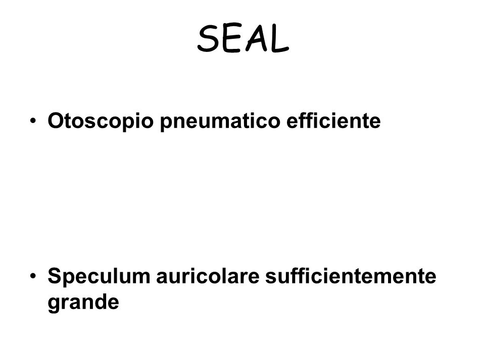 SEAL Otoscopio pneumatico efficiente