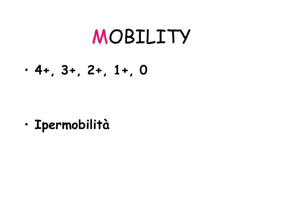 MOBILITY 4+, 3+, 2+, 1+, 0 Ipermobilità