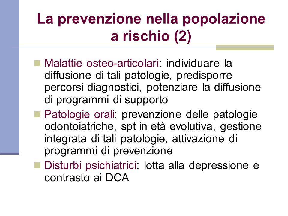 La prevenzione nella popolazione a rischio (2)