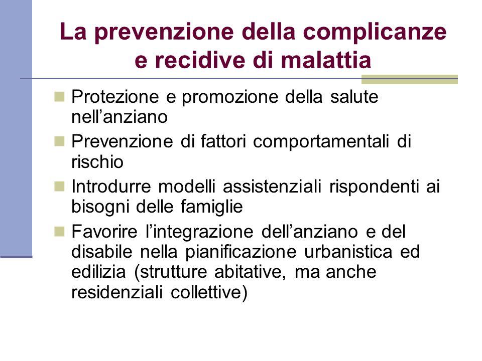 La prevenzione della complicanze e recidive di malattia