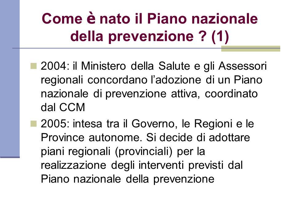 Come è nato il Piano nazionale della prevenzione (1)