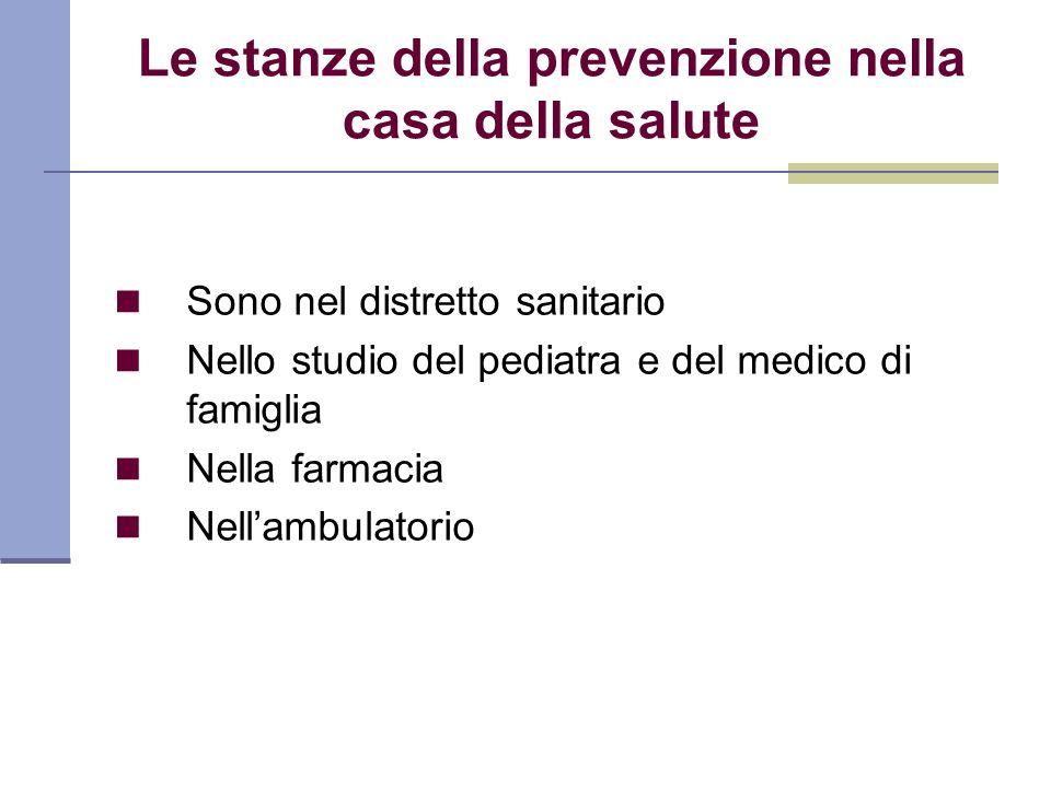 Le stanze della prevenzione nella casa della salute