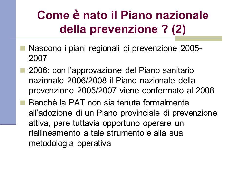Come è nato il Piano nazionale della prevenzione (2)
