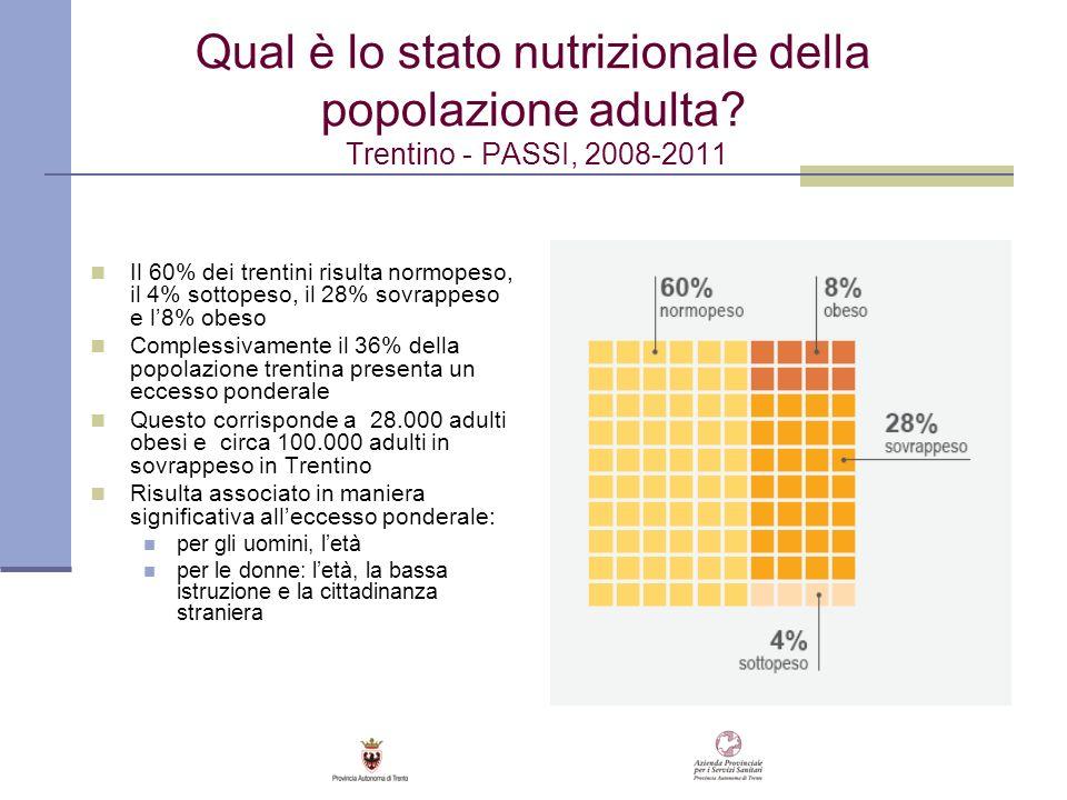Qual è lo stato nutrizionale della popolazione adulta