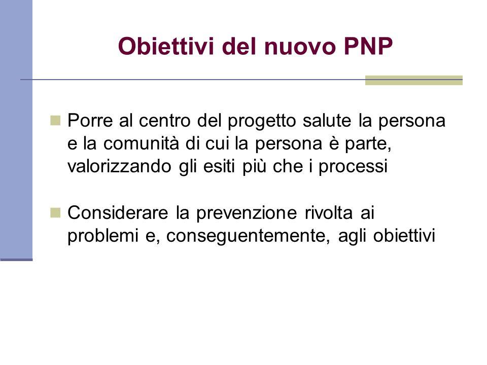 Obiettivi del nuovo PNP