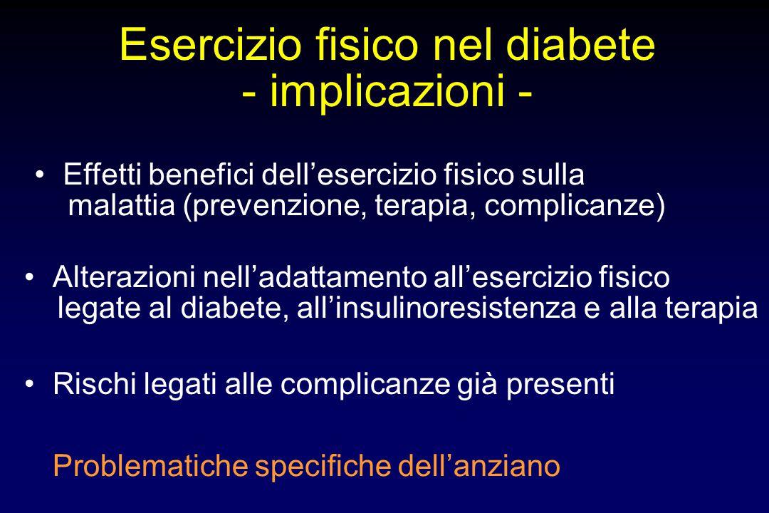 Esercizio fisico nel diabete
