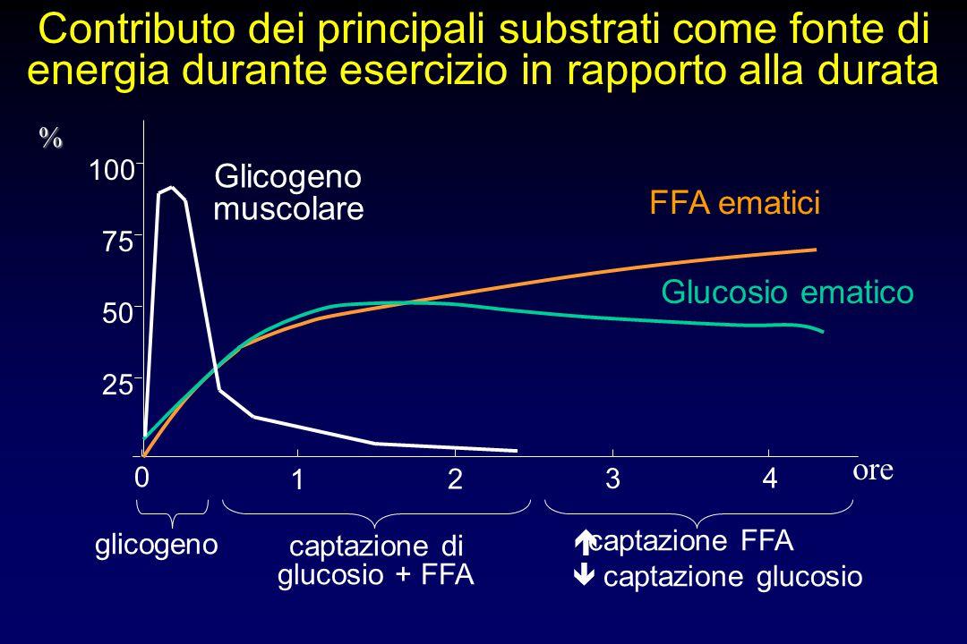 captazione di glucosio + FFA