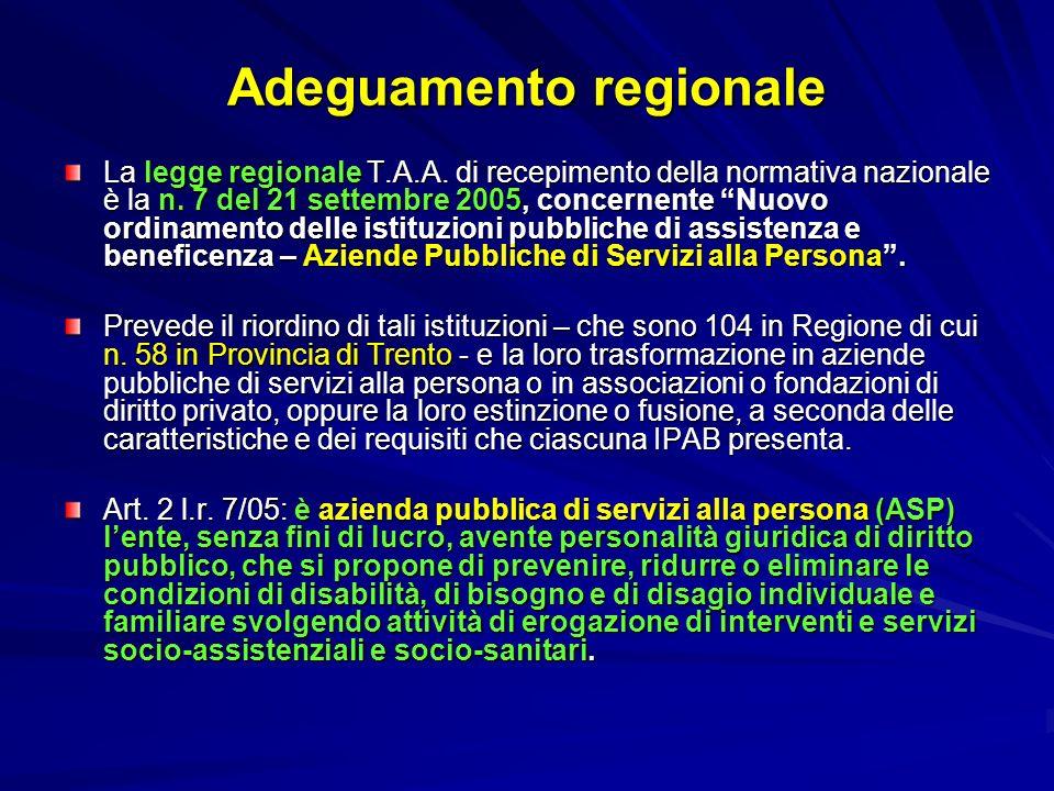 Adeguamento regionale