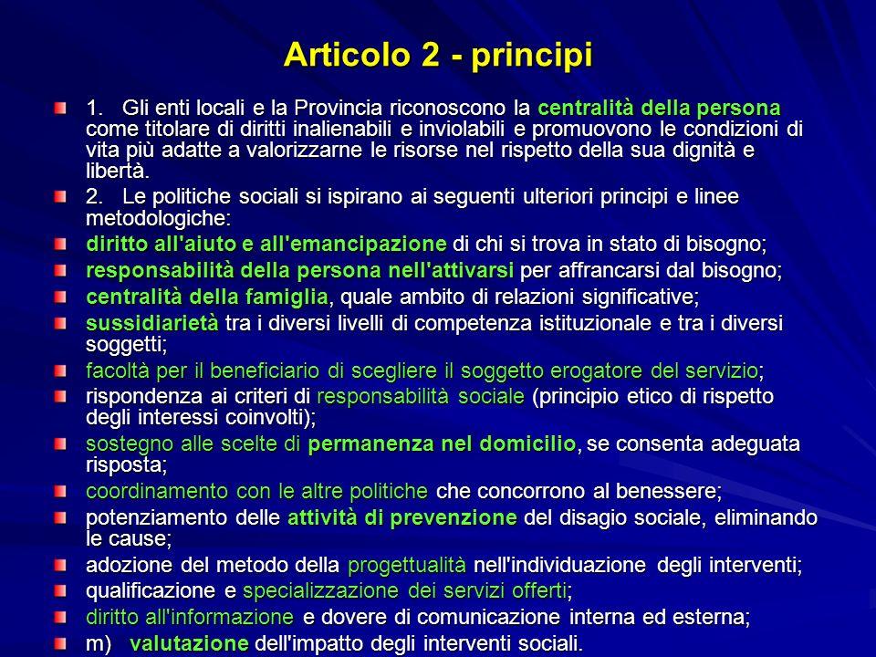 Articolo 2 - principi