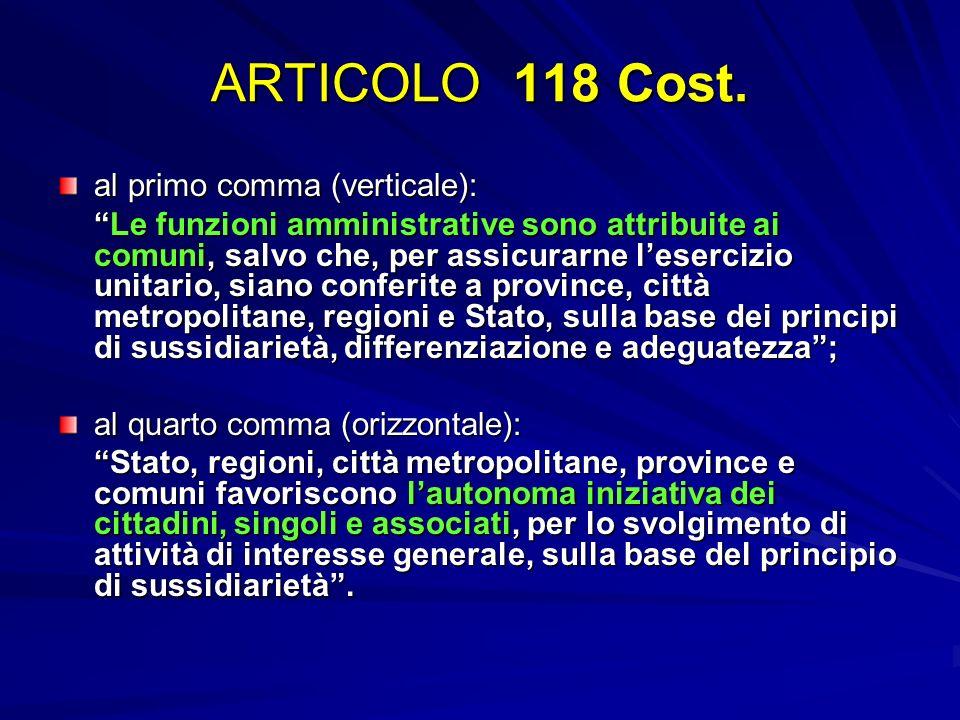 ARTICOLO 118 Cost. al primo comma (verticale):