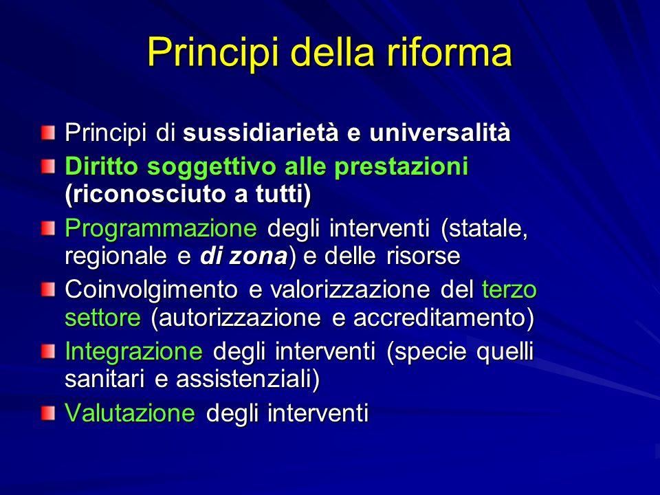 Principi della riforma