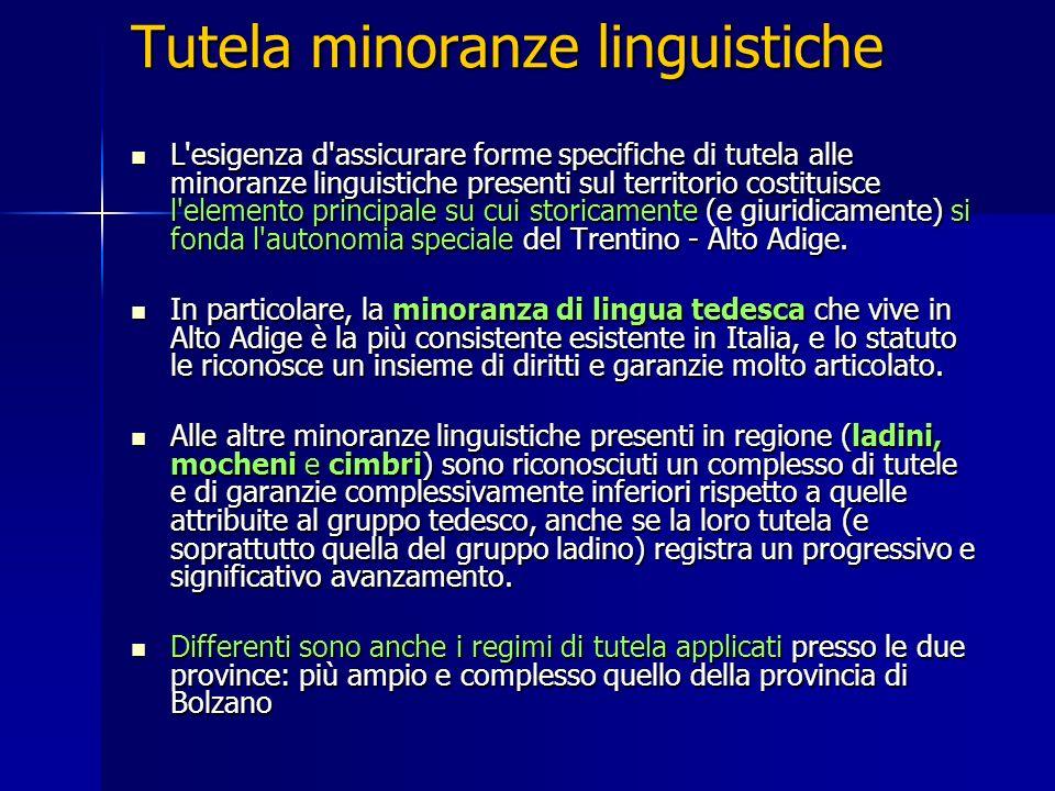 Tutela minoranze linguistiche