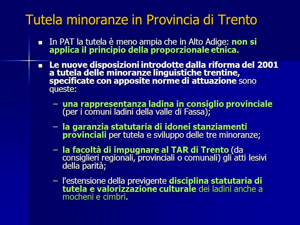 Tutela minoranze in Provincia di Trento