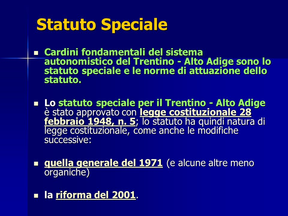 Statuto Speciale