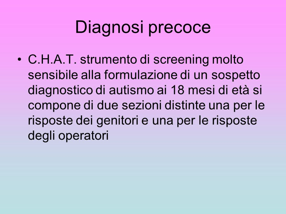Diagnosi precoce