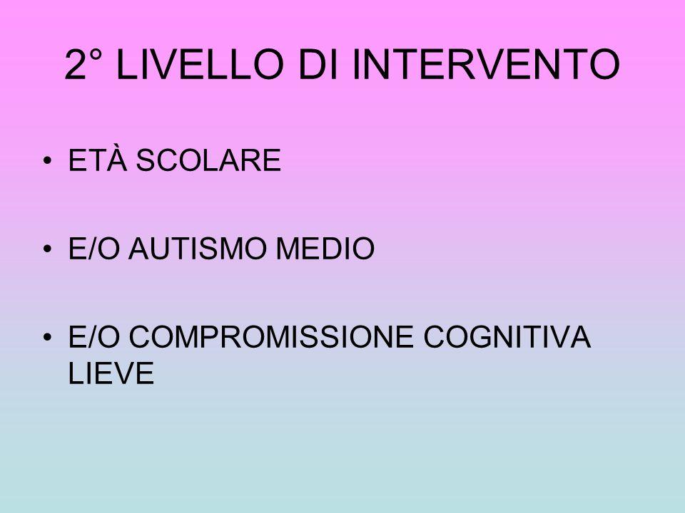 2° LIVELLO DI INTERVENTO