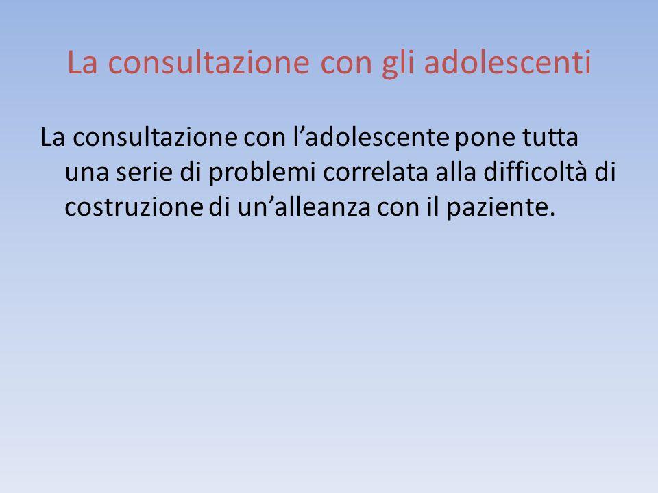 La consultazione con gli adolescenti