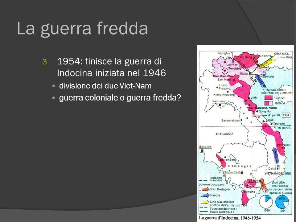 La guerra fredda 1954: finisce la guerra di Indocina iniziata nel 1946