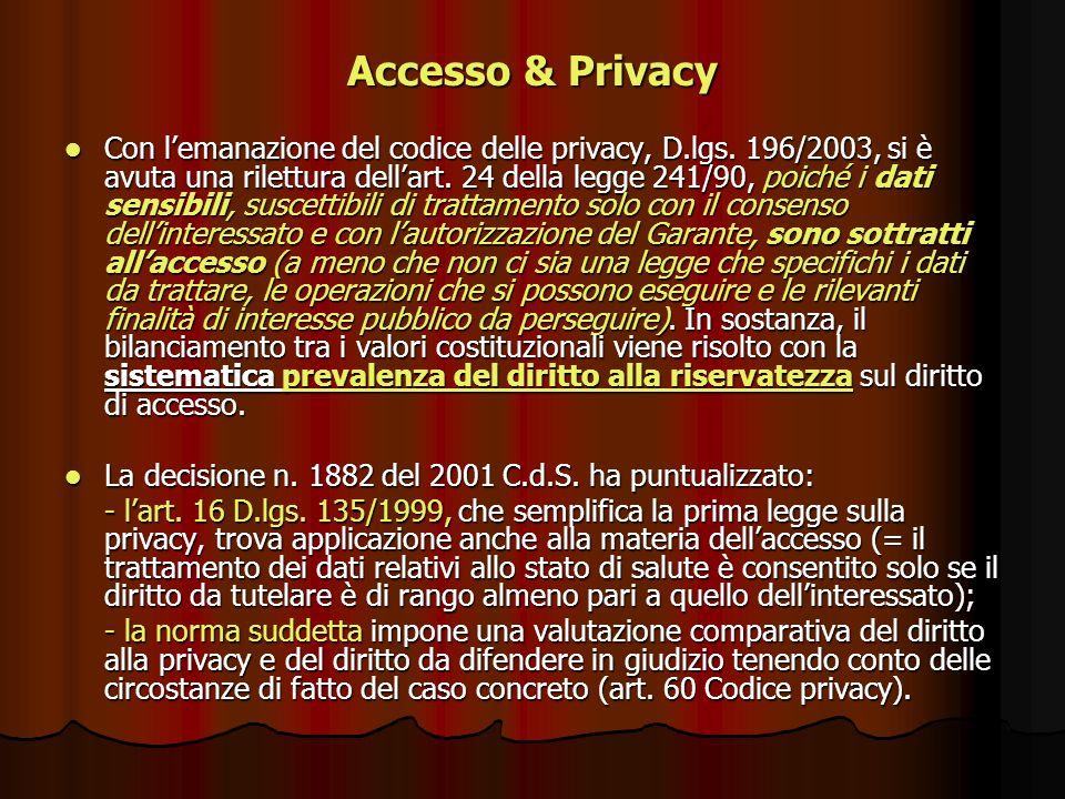 Accesso & Privacy