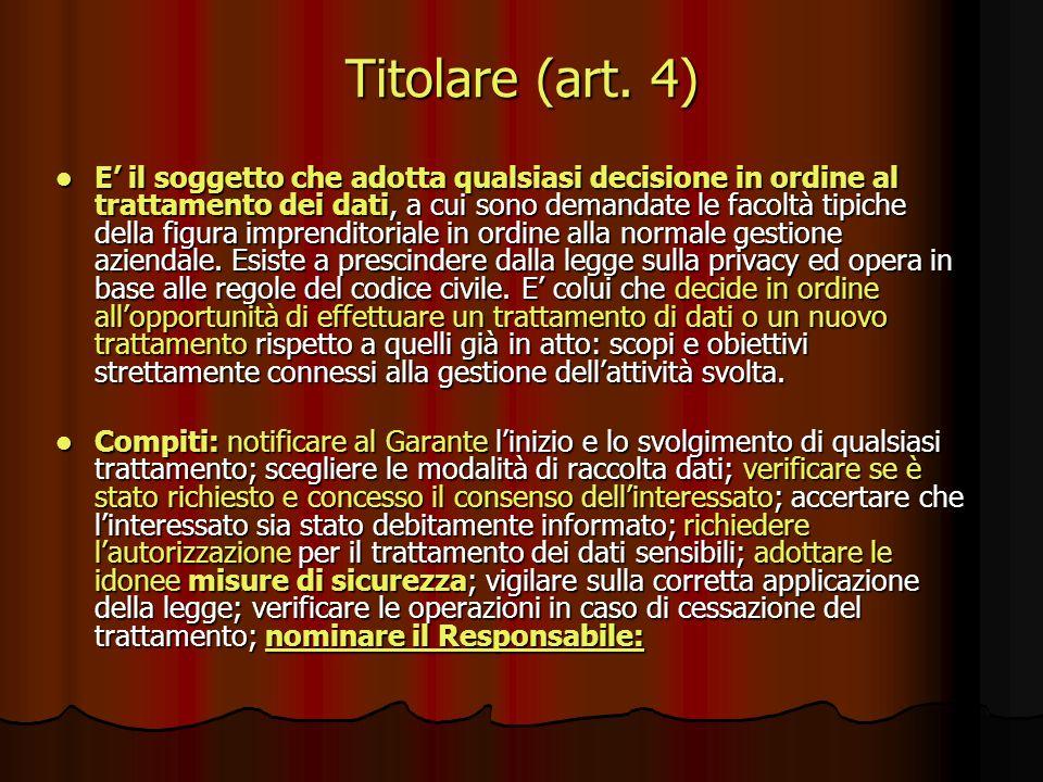 Titolare (art. 4)