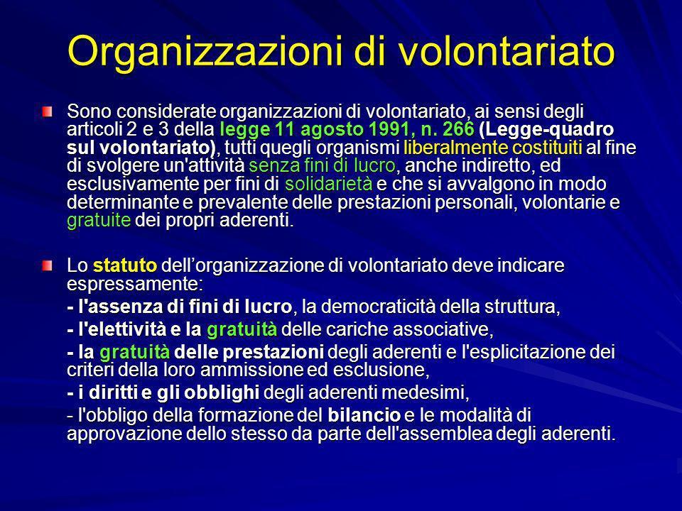 Organizzazioni di volontariato