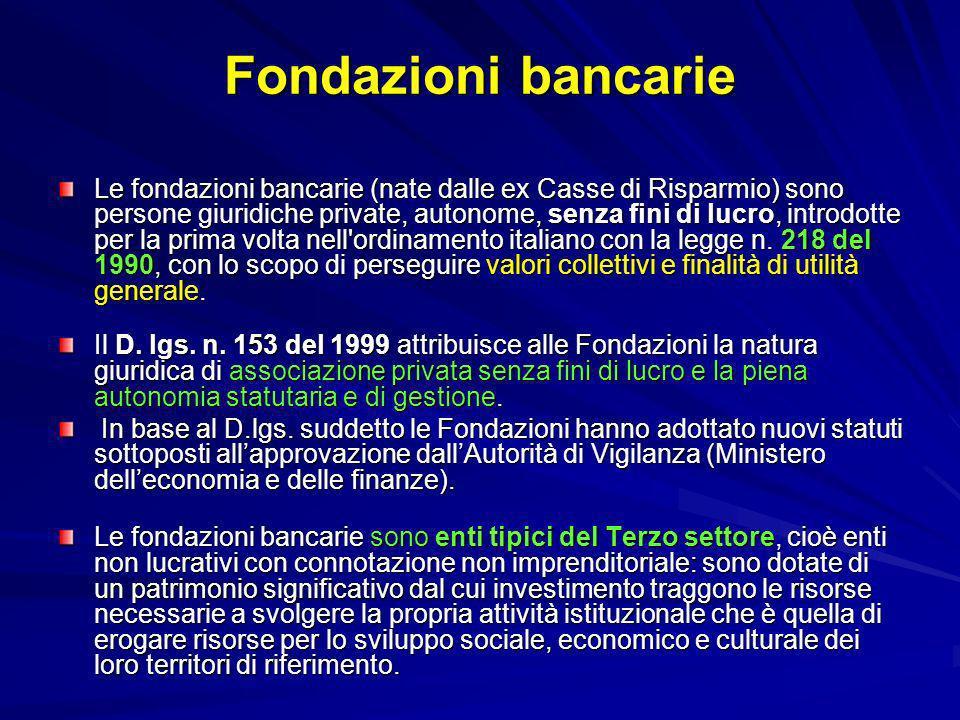 Fondazioni bancarie