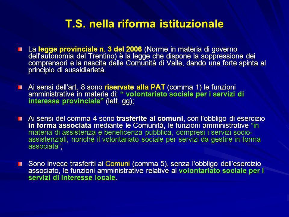 T.S. nella riforma istituzionale