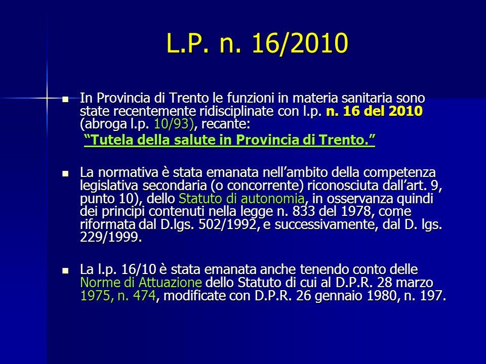 L.P. n. 16/2010