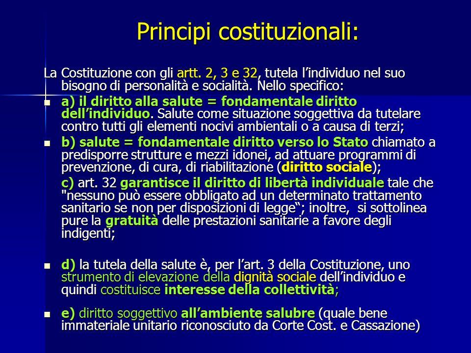 Principi costituzionali: