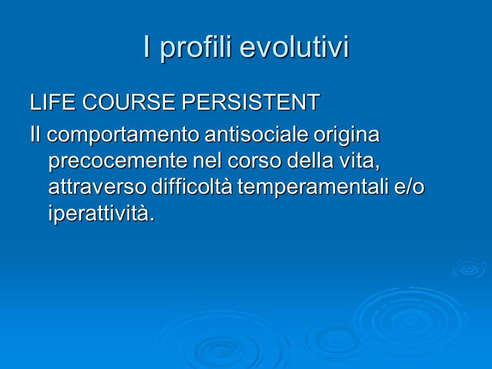 I profili evolutivi LIFE COURSE PERSISTENT