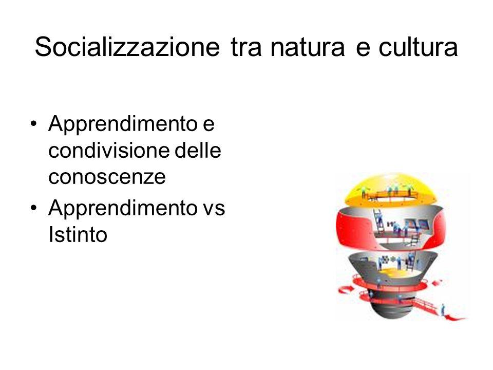 Socializzazione tra natura e cultura