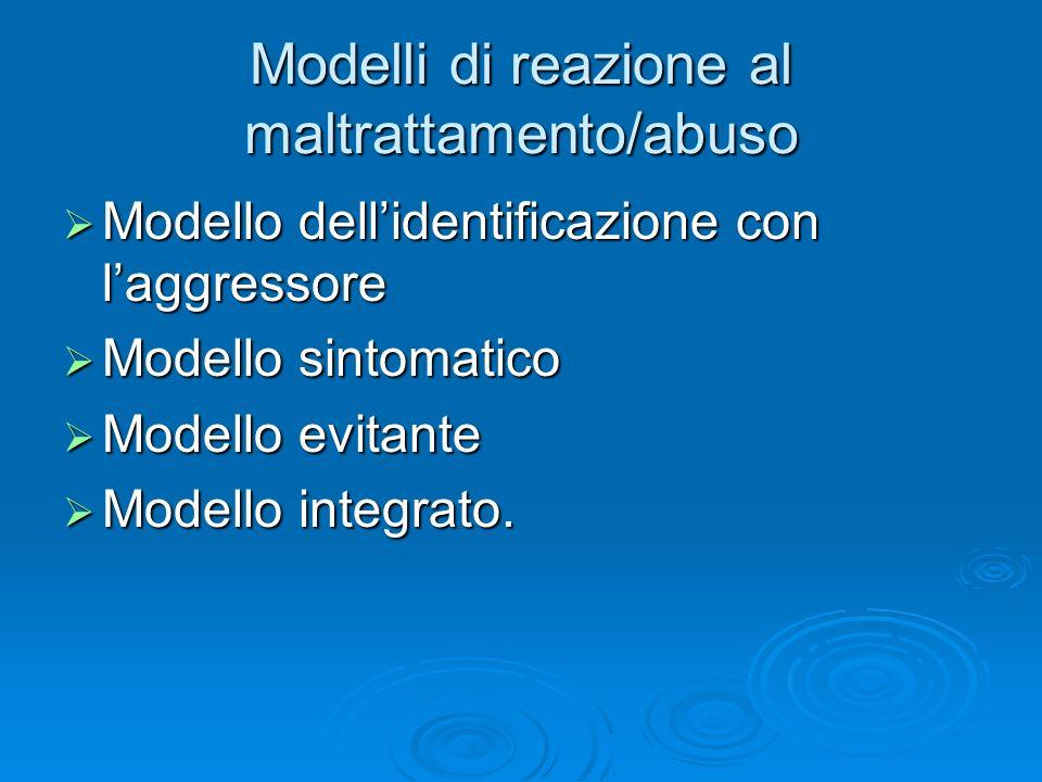 Modelli di reazione al maltrattamento/abuso