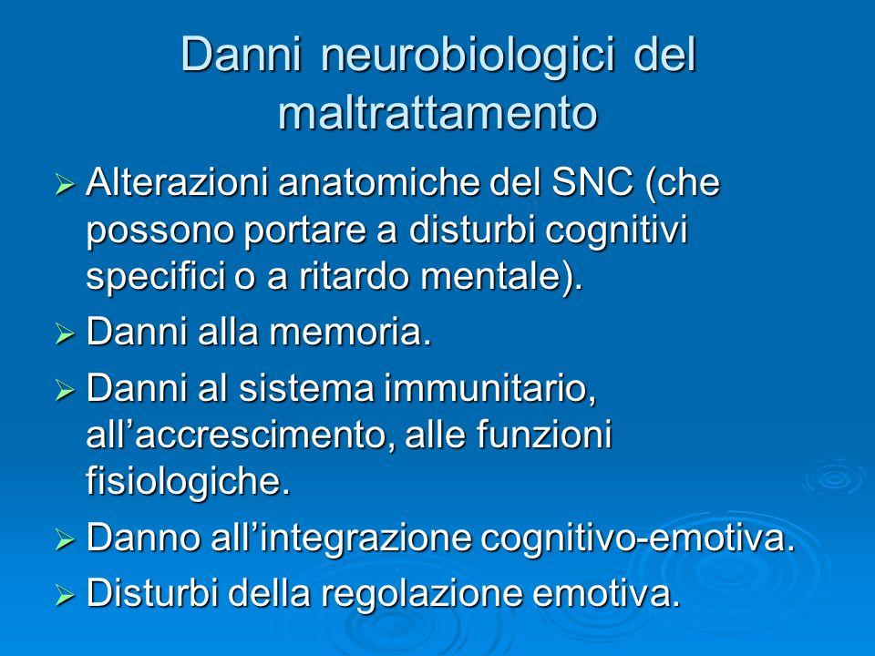 Danni neurobiologici del maltrattamento