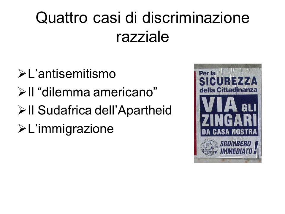 Quattro casi di discriminazione razziale