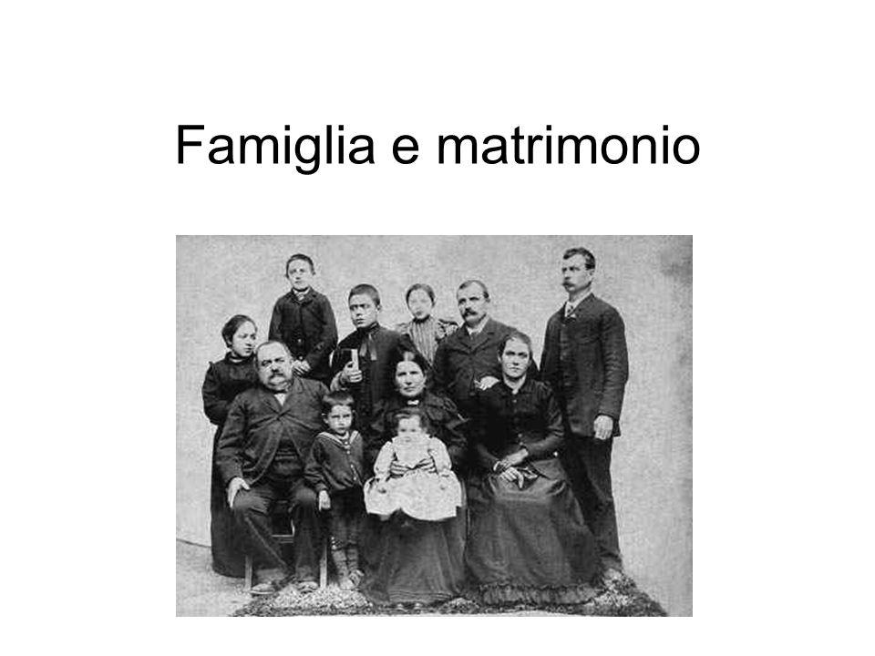 Famiglia e matrimonio