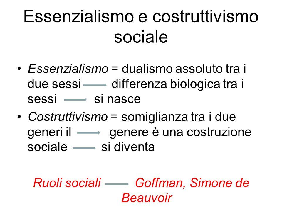 Essenzialismo e costruttivismo sociale