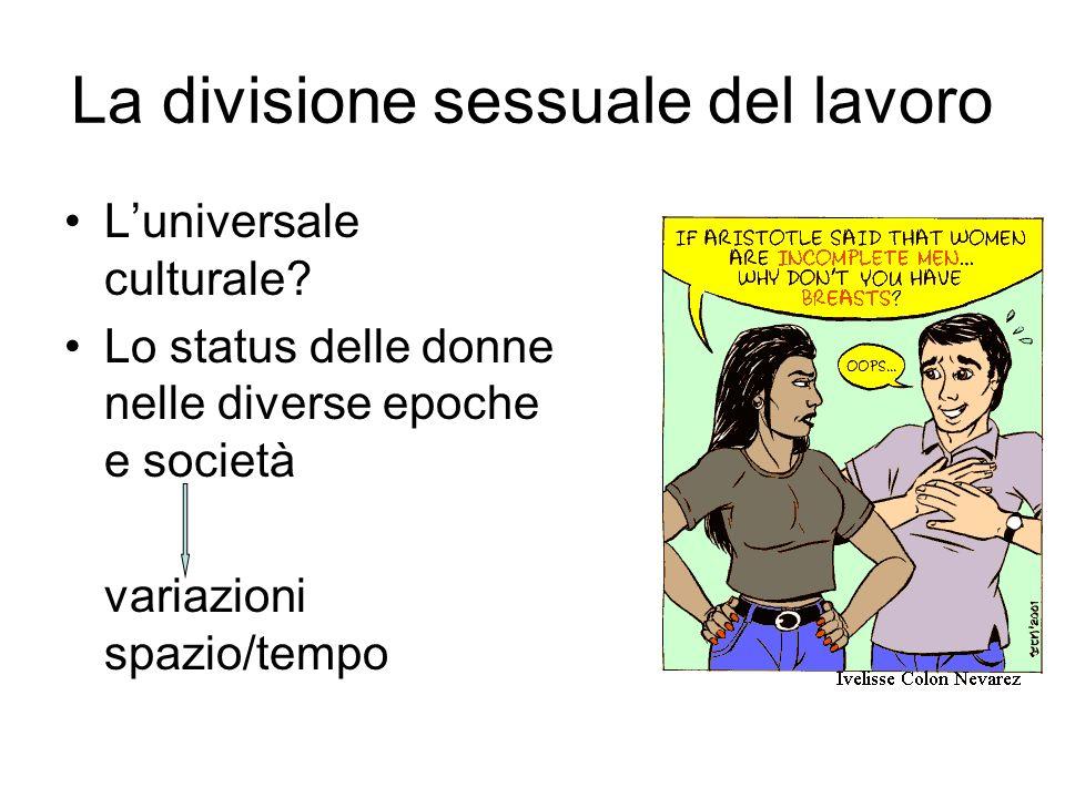 La divisione sessuale del lavoro