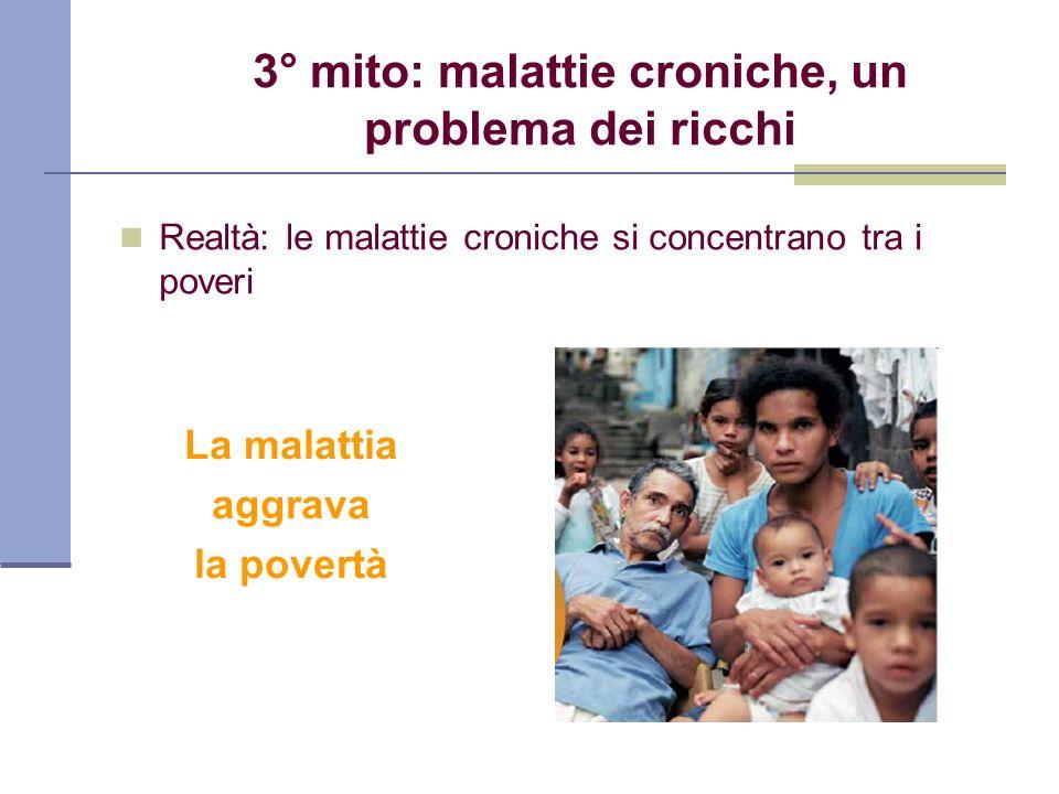 3° mito: malattie croniche, un problema dei ricchi