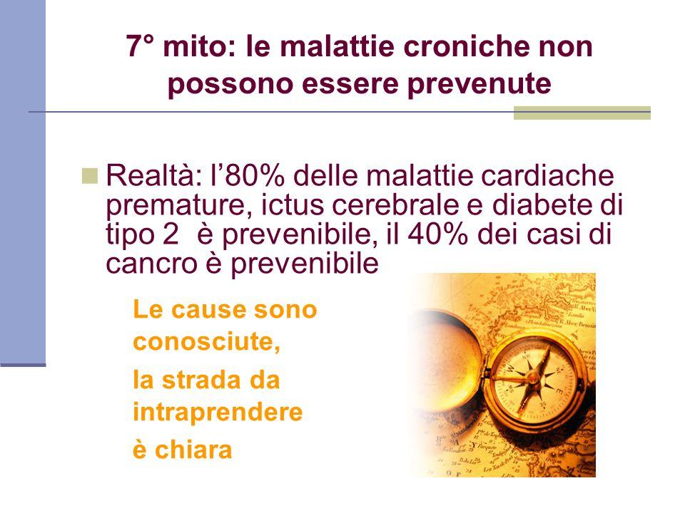 7° mito: le malattie croniche non possono essere prevenute