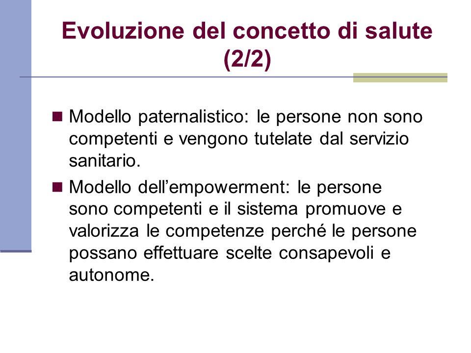 Evoluzione del concetto di salute (2/2)