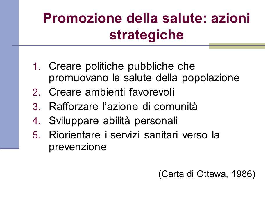 Promozione della salute: azioni strategiche