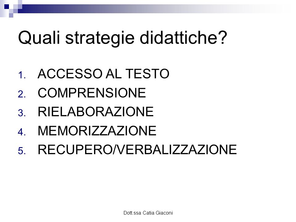 Quali strategie didattiche