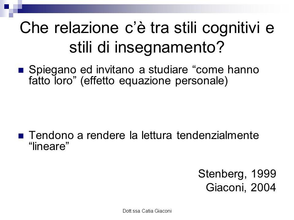 Che relazione c'è tra stili cognitivi e stili di insegnamento