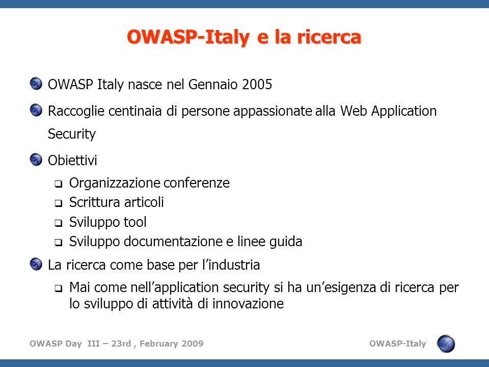 OWASP-Italy e la ricerca