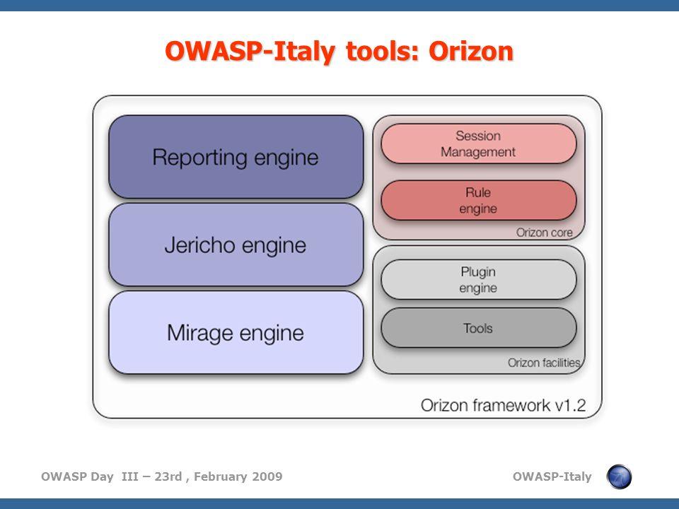OWASP-Italy tools: Orizon