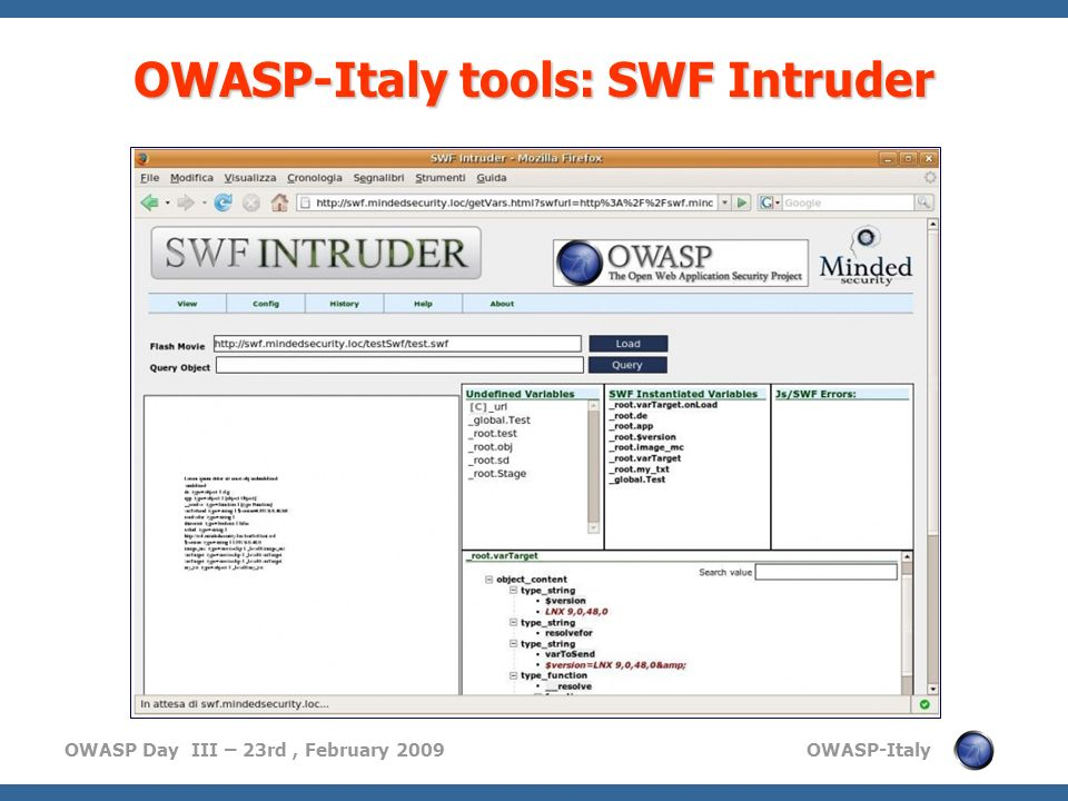 OWASP-Italy tools: SWF Intruder