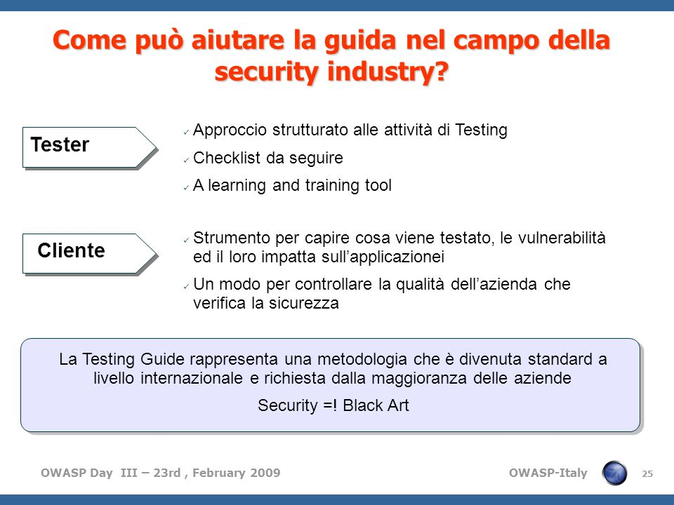 Come può aiutare la guida nel campo della security industry