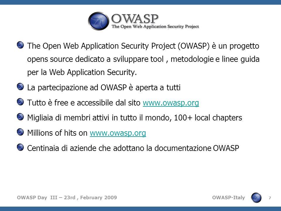 La partecipazione ad OWASP è aperta a tutti