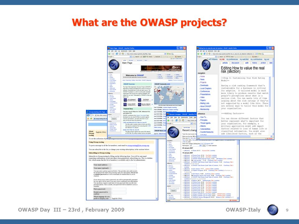 What are the OWASP projects