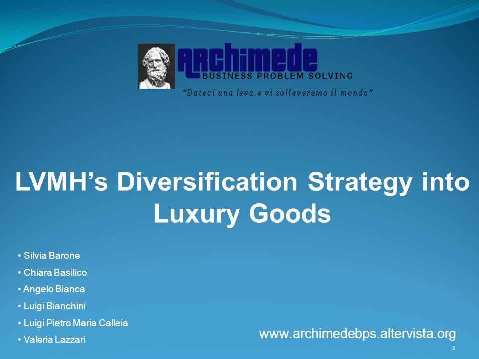 LVMH's Diversification Strategy into Luxury Goods